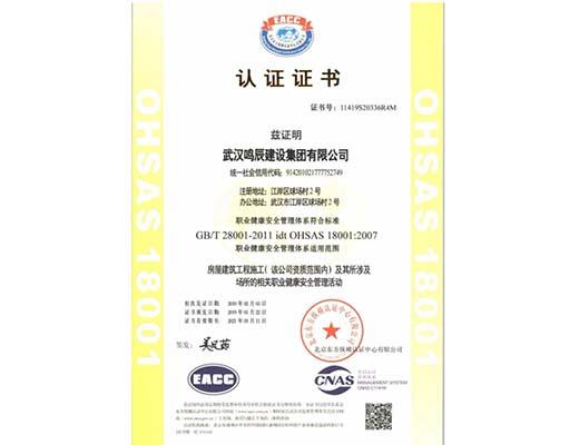武汉iso14001认证案例